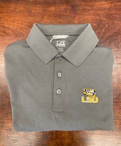 Cutter & Buck Grey LSU Polo