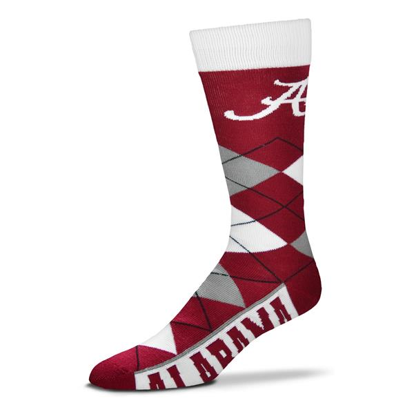 Alabama Crimson Tide Argyle Socks