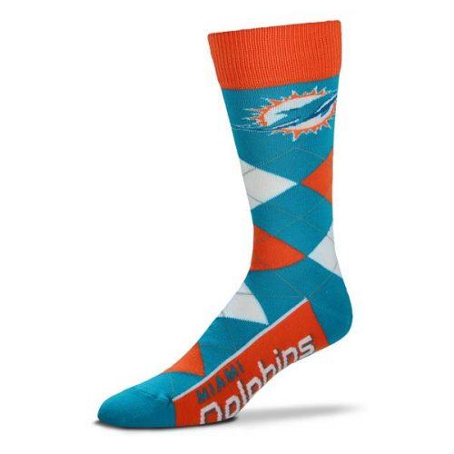 Miami Dolphins Argyle Socks