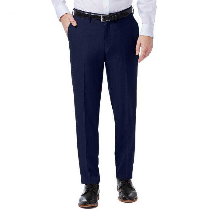 Haggar Premiuim Comfort Blue Slim Fit Pant