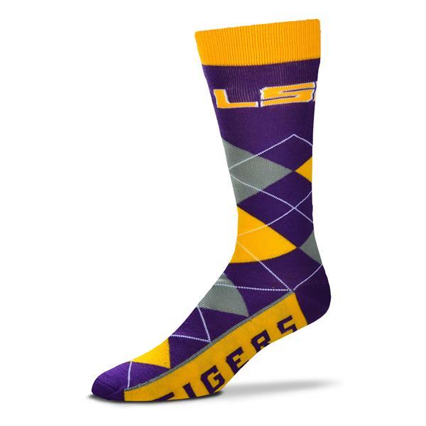 LSU Tigers Argyle Socks