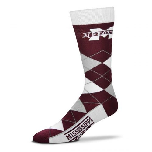 Mississippi State Bulldogs Argyle Socks