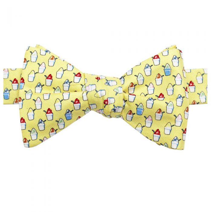 Snoballs King Cake Yellow Bow Tie